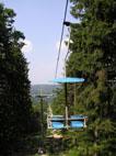historické foto 14:30h. a prvá sedačka sa vydáva na 1x trať /foto: Peťo z Lamača 28.07.2005/