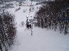 trasa lanovky smerom nadol /foto: Andrej 24.02.2005/