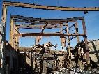 vyhoretá strojovňa po požiari 4.11.2005, strojné zariadenie lanovky požiar prežilo /foto: Andrej 13.11.2005/